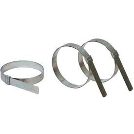 """Apache 40029030 JS3079 2"""" Band-It Jr. Carbon Steel Preformed Clamp w/ 5/8"""" Wide Band"""