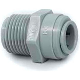 """1/2"""" Male Connector With 3/8"""" Nptm Thread - Push-In Fitting - Pkg Qty 10"""