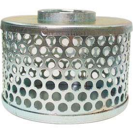 """Apache 70002000 4"""" FNPT Plated Steel Round Hole Strainer"""