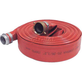 "2""  x  25' Medium Duty PVC Discharge Hose Coupled w/ M x F Aluminum Short Shanks"
