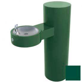 Murdock GRJ85 Barrier Free Round Steel Pedestal Fountain, Lead Free Stainless Steel Bubbler, Green