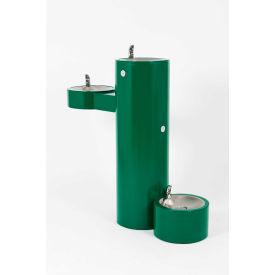 Murdock GRM45-PF Barrier Free Bi-Level Pedestal Mounted Outdoor Drinking Fountain W/ Pet Fountain