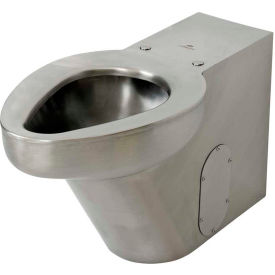 Acorn R2141-W-3 Siphon Jet Floor Mounted Toilet W/Back Spud, Stainless Steel Finish