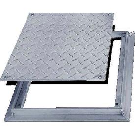 Acudor 12x12 Aluminum Diamond Plate Floor Door - No Hinge