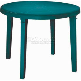"""Adams® 38"""" Round Outdoor Table - Hunter Green (Sold in Pk. Qty 3) - Pkg Qty 3"""