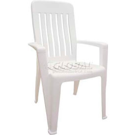 Adams® Mission Outdoor Armchair - White (Sold in Pk. Qty 4) - Pkg Qty 4