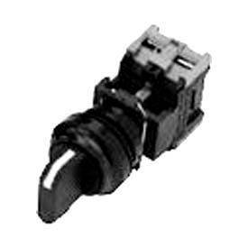 Advance Controls 104340, 22mm Non Metal, Non Lit, 3 Pos., Square Knob Type Selector Switch - Black