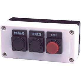 3 Hole, Flush Flush Extended, Forward Reverse Stop 22mm Non Metallic Push Button Station