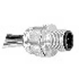 Bulkhead Receptacle, M12 Series, Micro Style DC, Threaded, Straight Female, Pin F3, Cable C