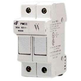 Advance Controls 152401 DIN Rail Fuse Holder, 2 Pole, Class CC Fuse, No Indicator Light