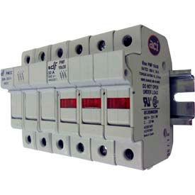 Advance Controls 152402 DIN Rail Fuse Holder, 3 Pole, Class CC Fuse, No Indicator Light