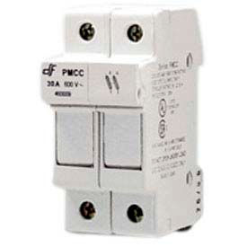 Advance Controls 152410 DIN Rail Fuse Holder (Midget), 2 Pole, Class CC Fuse, Indicator Light