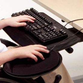 Fully Articulating Keyboard Arm with Tray and Mouse Platform