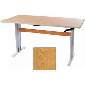 "Accella™ Height Adjustable Activity Table - 48""L x 30""W Oak"