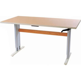 """Accella™ Height Adjustable Activity Table - 60""""L x 24""""W Maple"""