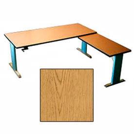 Accella™ Height Adjustable Left Return Desk - Oak