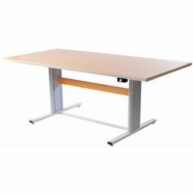 "Infinity™ Powered Height Adjustable Group Therapy Table - 72""Lx36""W Maple"