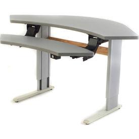 Infinity™ Powered Height Adjustable Bi-Level Corner Workstation - Gray