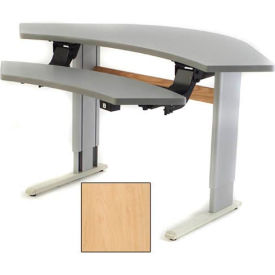 Infinity™ Powered Height Adjustable Bi-Level Corner Workstation - Maple