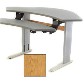 Infinity™ Powered Height Adjustable Bi-Level Corner Workstation - Oak