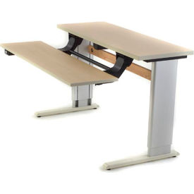 Infinity™ Powered Height Adjustable Bi-Level Workstation - Maple