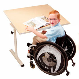 "Knob Adjusted Wheelchair Accessible Tilting Table - 36""L x 30""W Maple"