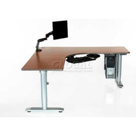"Vox Perfect Corner Desk with Power Adjustment - 144""L x 24""W American Maple"