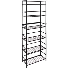 "FlipShelf Wide 37676DS,  26-1/2"" W x 12"" D x 69-1/2"" H, 6-Level Black"