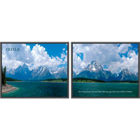 """Panorama Prints, Goals, Framed, 30"""" x 24"""", 2/PK"""