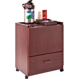 VRTFC830OK Mobile Deluxe Coffee Bar, 23w x 19d x 30-3/4h, Medium Oak VRT FC830OK