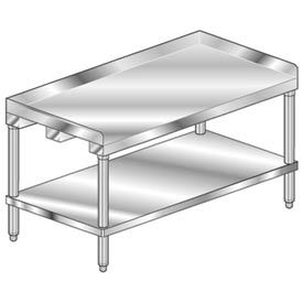 """Aero Manufacturing 2ES-2424 24""""W x 24""""D Equipment Stand with Stainless Steel Undershelf"""