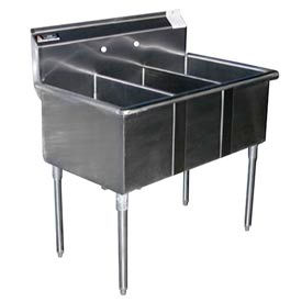 Premium SS Non-NSF Three Bowl Sink - 16 x 21