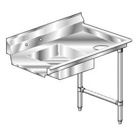 Aerospec SS NSF Soiled Straight w/ Right Drainboard - 72 x 30