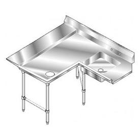 Aerospec SS NSF Soiled Shelf Island w/ Left Drainboard - 144 x 72