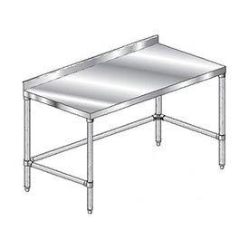 "Aero Manufacturing 2TGSX-30144 144""W x 30""D Stainless Steel Workbench with 2-3/4"" Backsplash"