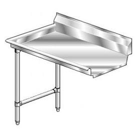 Deluxe SS NSF Clean Straight w/ Left Drainboard - 124 x 30