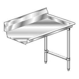 Deluxe SS NSF Clean Straight w/ Right Drainboard - 30 x 30