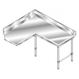 Deluxe SS NSF Clean Corner w/ Right Drainboard - 60 x 60