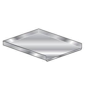 "Deluxe SS Non-NSF Drainboard - 18""W x 42""D"
