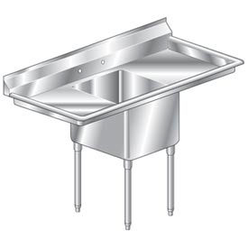 """One Bowl Deluxe SS NSF Sink with two 24'W Drainboards - 16""""Wx21""""D"""