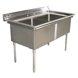 """Aero 3F2-1830 Delux Two Compartment NSF Sink - 30""""Wx18""""D"""