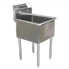 Deluxe SS Non-NSF One Bowl Sink - 48 x 24