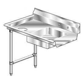 Deluxe SS NSF Soiled Straight w/ Left Drainboard - 84 x 30