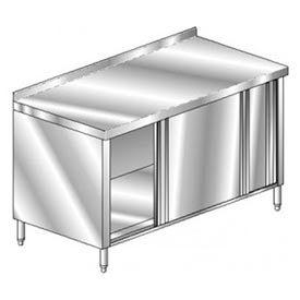 "Aero Manufacturing 3TGSOD-2496 96""W x 24""D Deluxe Cabinet, 2-3/4"" Backsplash, Sliding Doors, Galv."