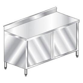 "Aero Manufacturing 3TGSOHD-2496 96""W x 24""D Deluxe Cabinet, 2-3/4"" Backsplash, Hinged Doors, Galv."