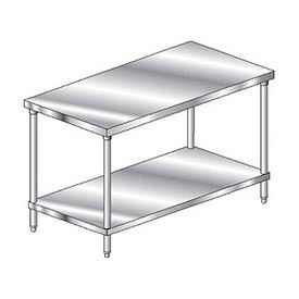 "Aero Manufacturing 3TS-3096 96""W x 30""D Deluxe Flat Top Stainless Steel Workbench w/ Undershelf"