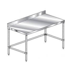 "Aero Manufacturing 4TGBX-24108 108""W x 24""D Stainless Steel Workbench 4"" Backsplash Galv."