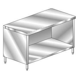"Aero Manufacturing 4TGO-24120 120""W x 24""D Economy Flat Top Cabinet, Enclosed Base, Galv."