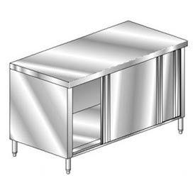 "Aero Manufacturing 4TGOD-2460 60""W x 24""D Economy Flat Top Cabinet, Sliding Doors, Galv."