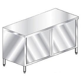 "Aero Manufacturing 4TGOHD-2472 72""W x 24""D Economy Flat Top Cabinet, Hinged Doors, Galv."